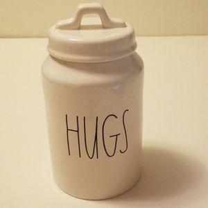 """Brand new Rae Dunn """" HUGS"""" canister"""